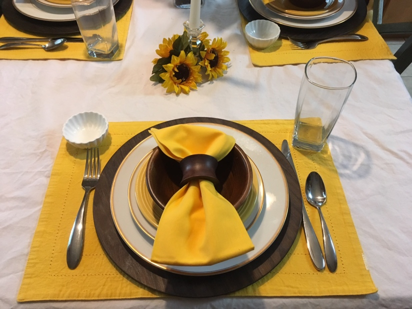 Sunflower Tablescape 2