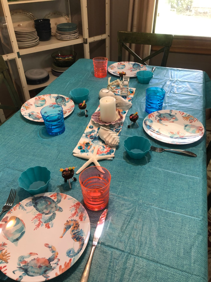 Sea Shells Tablescape 2
